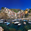 Boats in Riomaggiore - Stock Photo