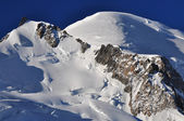 Cosmique route to the Mont Blanc Summit — Stock Photo