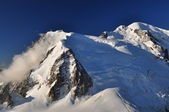 The highest mountain in the Alps, Cosmique route — Stock Photo