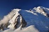 Der höchste berg in den alpen, cosmique-route — Stockfoto