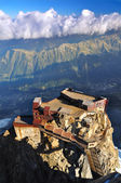 Aiguille du Midi, roof of cable car station — Stock Photo