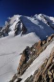 Cosmique itinerario verso la vetta del monte bianco — Foto Stock