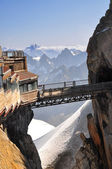 Footbridge peak on Aiguille du Midi — Stock Photo