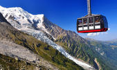 Aiguille du Midi cable car in Chamonix — Stock Photo
