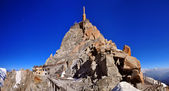 Aiguille du Midi summit needle tower — Stock Photo