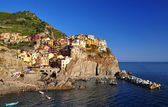 Manarola over the see — Stock Photo