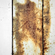 Old rusty metal panel background — Stock Photo
