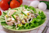 Squid salad with egg — Stock Photo