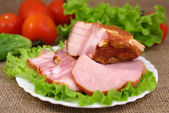 Deli meats with vegetables — Stock Photo