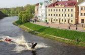 Gold Quay in Pskov — Stock Photo