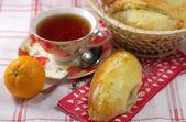 Hot cakes con té — Foto de Stock