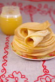 Thin pancakes — Stock Photo