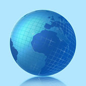 3D image of the globe — Stock Photo