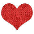 Stock Photo: Red woolen heart