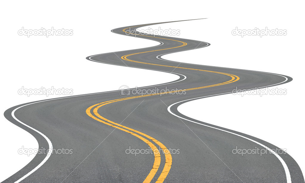 Very winding road, disappearing into the distance. — Stock Photo #9133453