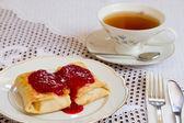 Blini. Traditional Ukrainians pancakes — Stock Photo