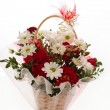 Colorful flower bouquet arrangement — Stok fotoğraf