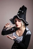 Witch with a potion — Stock Photo
