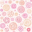Stock Vector: Seamless pattern with sewing buttons