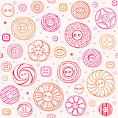 Seamless pattern with sewing buttons — Stock Vector