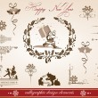 Christmas and new year greetings - Stock Vector