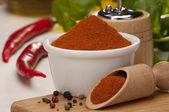 Chilli and pepper — Stock Photo