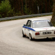 LEIRIA, PORTUGAL - APRIL 20: José Grosso drives a BMW 2002 during Day One of Rally Verde Pino 2012, in Leiria, Portugal on April 20, 2012. — ストック写真