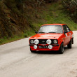 LEIRIA, PORTUGAL - APRIL 20: Goncalo Figueiroa drives a Ford MkII during Day One of Rally Verde Pino 2012, in Leiria,  Portugal on April 20, 2012. - Stock Photo