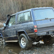 Jeep on River - Stock Photo