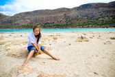Girl on a beach — Stock Photo