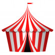 Stock Vector: Vector illustration of circus tent