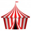 Vector illustration of circus tent - Stock Vector