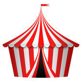 Vector illustration of circus tent — Vector de stock
