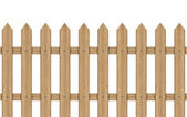 Vector illustration of wooden fence — Stock Vector