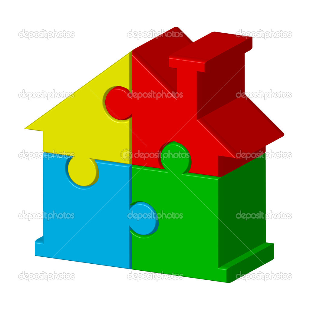 House from puzzles  Stock Vector #10219553