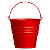 Vector illustration of red bucket — Stock Vector