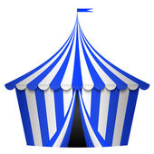 Vector illustration of blue circus tent — Stock Vector