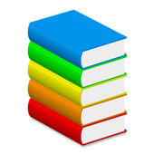 Vector illustration of colorful books — Stock Vector