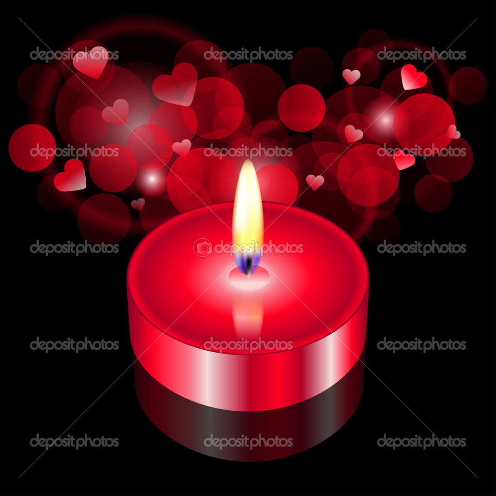 Vector illustration of red candle — Stock Vector #10675159