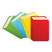 Colorful books — Stock Vector