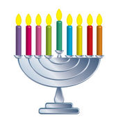 Channukah lamp — Stock Vector