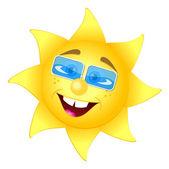 Счастливое солнце — Cтоковый вектор