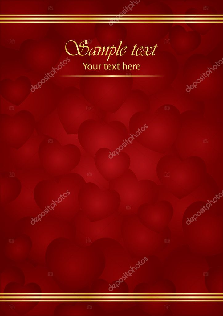 Vector Valentine card  Stock Vector #7990613