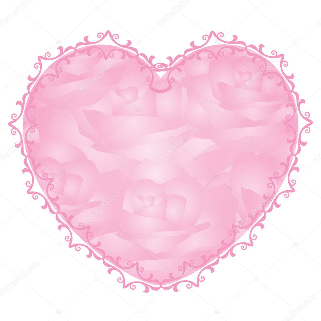 Vector pink heart - notepaper — Stock Vector #7996513
