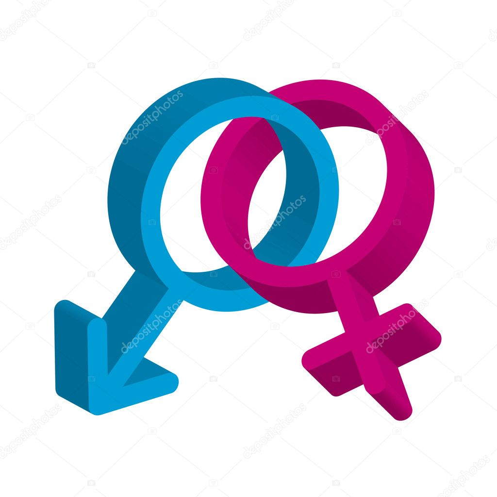3d vector illustration of male and female symbol  Stock Vector #7997970