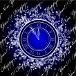 Stock Vector: New Year Clock