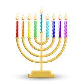 Hanukkah lamp — Stockvector