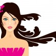 Hawaiian girl — Vector de stock