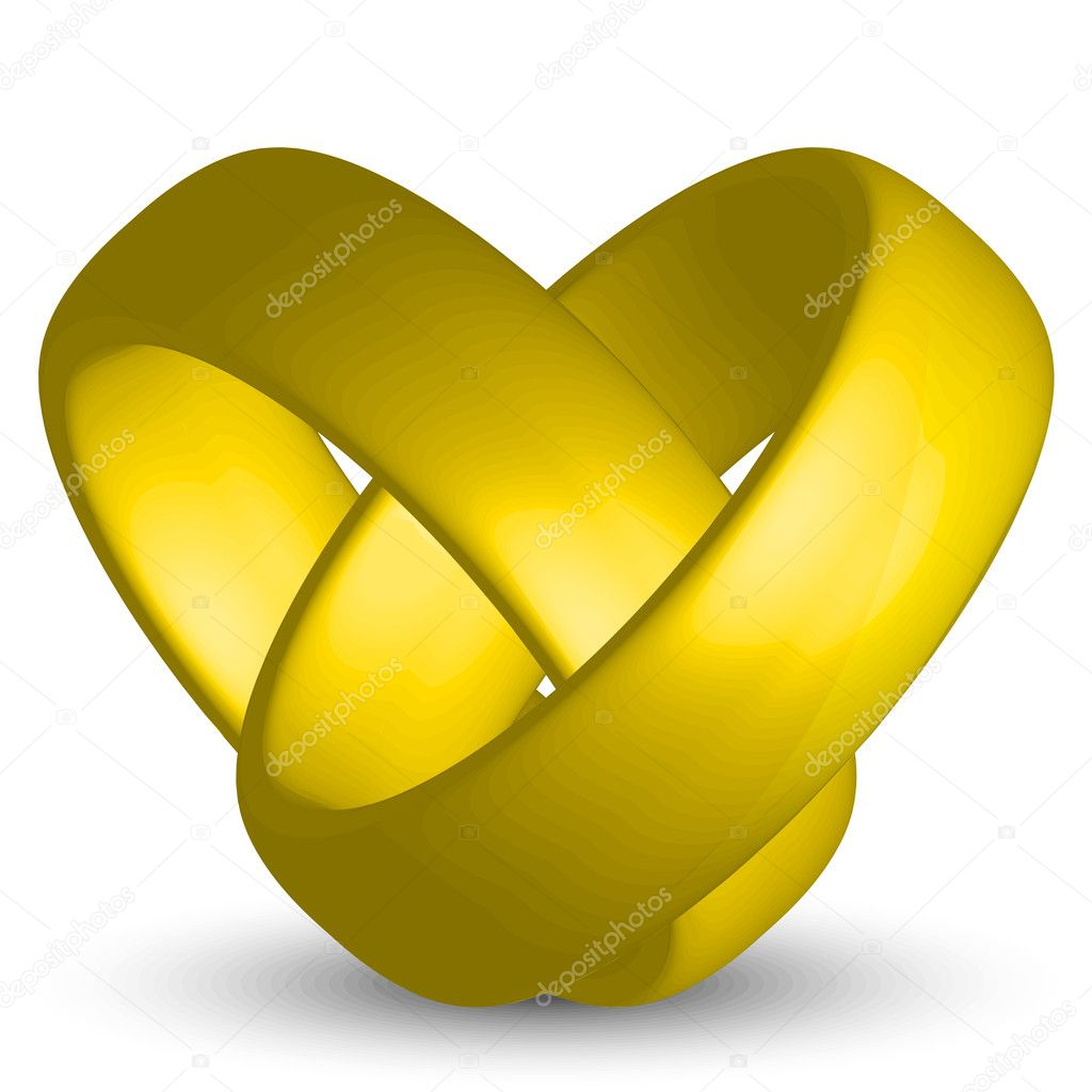 Vector illustration of heart from rings — Stock Vector #9403356