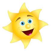 Illustration of happy sun — Stock Vector